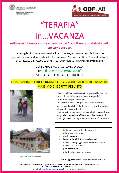 """""""TERAPIA""""  in…VACANZA: in Trentino una vacanza terapeutica per autismo"""