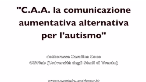 La comunicazione aumentativa alternativa per l'autismo (VIDEO)