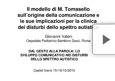 Il modello di Tomasello sull'origine della comunicazione