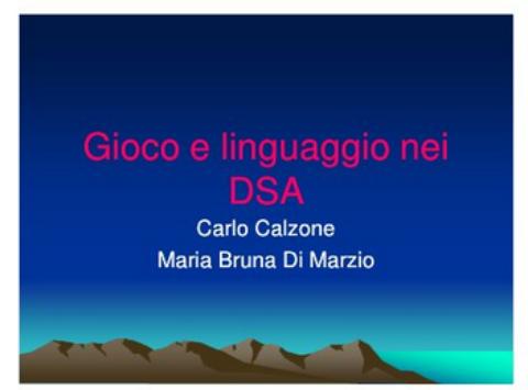 Gioco e linguaggio nei DSA