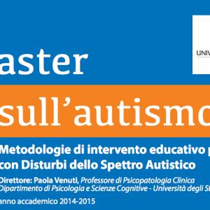 """Nuova edizione Master I livello su Autismo """"Metodologie di intervento educativo per soggetti con disturbi dello spettro autistico"""""""