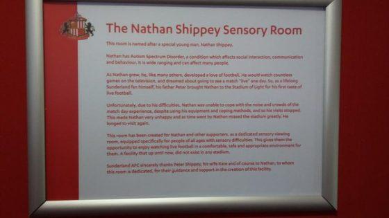 Il Sunderland costruisce una stanza speciale per un piccolo tifoso autistico