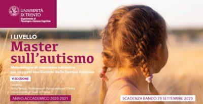 Università di Trento: aperte le iscrizioni al Master Autismo 2020/21