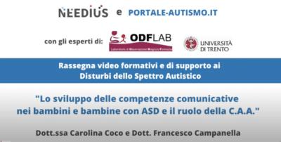 Lo sviluppo delle competenze comunicative nei bambini e bambine con ASD il ruolo della CAA